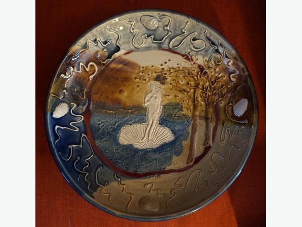 4U2C ZACH DIETRICH PLATTER, THEME THE BIRTH OF VENUS BY SANDRA
