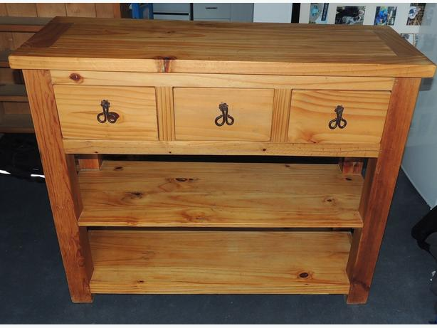 Mexican Pine And Rustic Console Table Central Ottawa