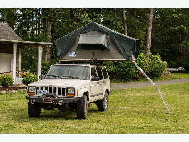 Jeep Cherokee with Hannibal Rooftop Tent & Jeep Cherokee with Hannibal Rooftop Tent Outside Victoria Victoria