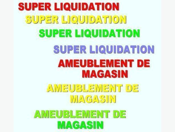 LIQUIDATION POUR LIBÉRER L'ESPACE ~ AMEUBLEMENT DE MAGASIN