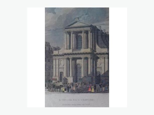 Six Antique Engravings of Paris and its Environs
