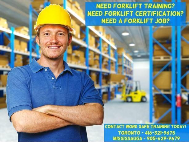 Forklift Jobs Training  + Certification