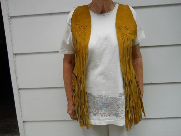 Suede Vests from Alcapulco, Mexico
