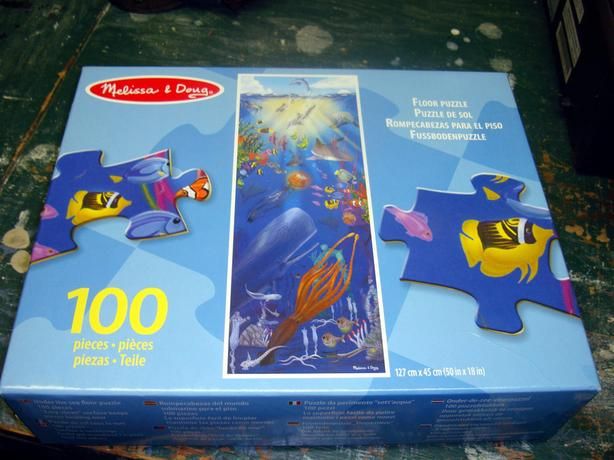 Brand New Melissa & Doug Aquarium 100 Piece Floor Puzzle - $15