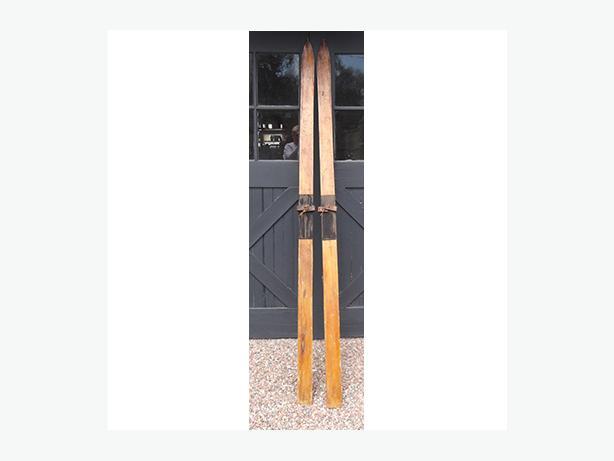 Antique Wooden Skis