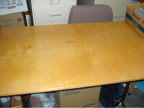 "Real, Maple Folding Table: 30"" x 48"" x 29""H.  Very  High Quality"