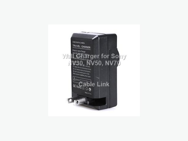Travel Wall Charger for Sony NP-FV50 NP-FV70 FV30 Camera Battery
