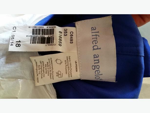 Colbalt Blue Alfred Angelo Dress