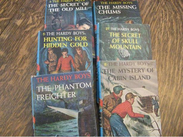 Six vintage The Hardy Boys books