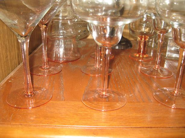 cranberry glassware.