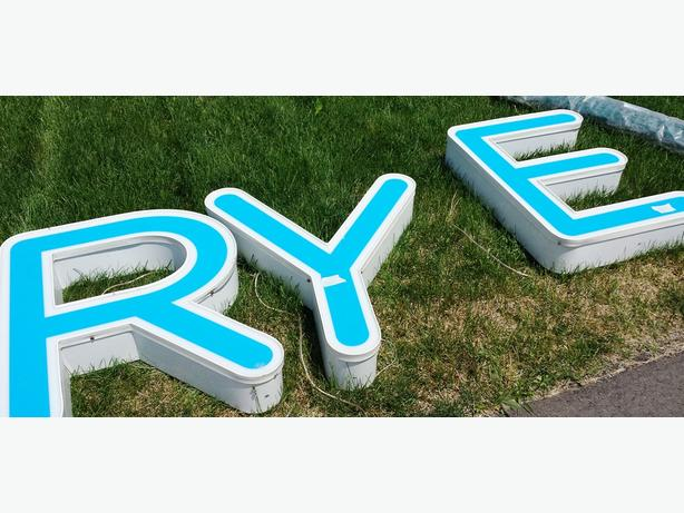 big letters RYE
