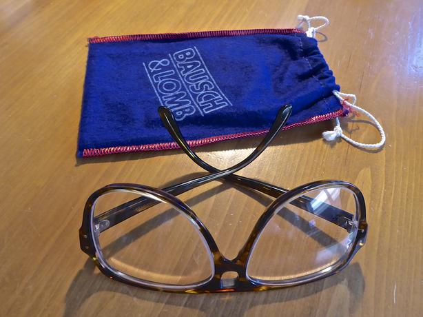 Vintage Bausch & Lomb Safety Glasses & 2 Racquetballs