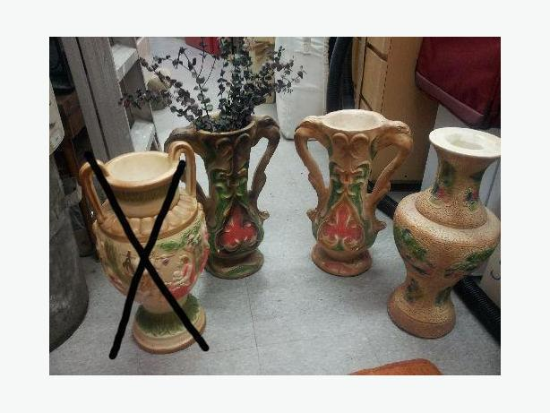 3 Beautiful and Rare Handmade Large Vases $10 each