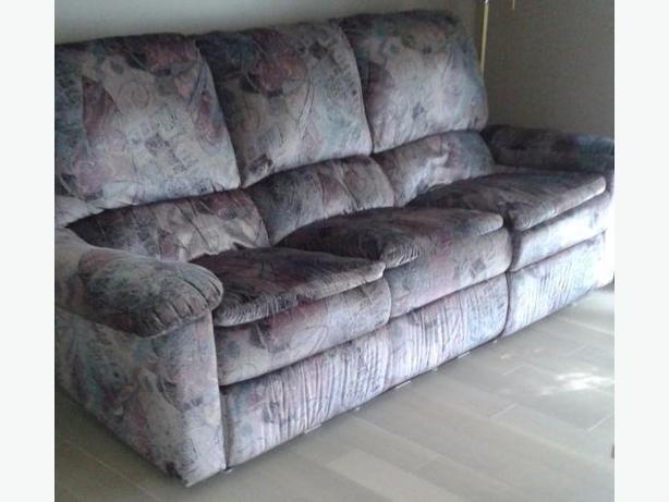 (Elran) Reclining sofa and Chair (*negociable)