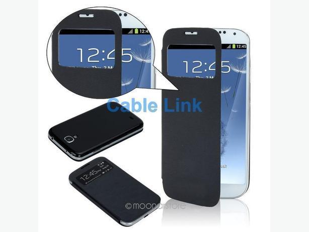 Slim Flip Window View Case for Samsung Galaxy S4 I9500