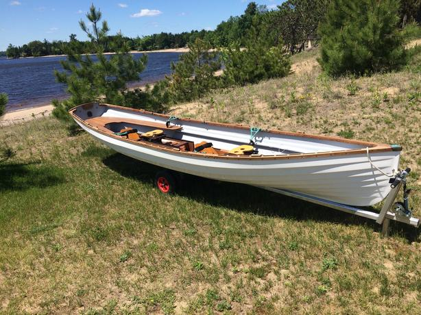 Classic Whitehall Spirit® 17 Double Slide Seat Sculling Rowboat