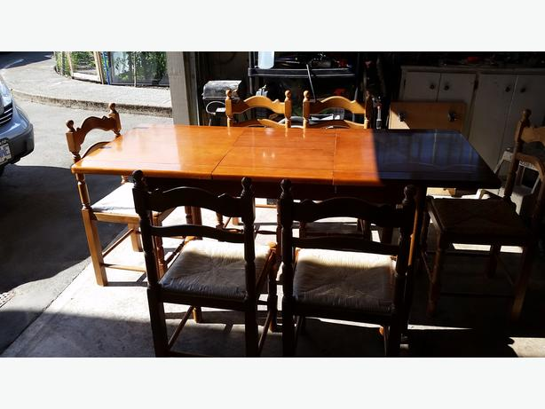 Solid Mahogany Wood Table Amp Chairs Saanich Victoria