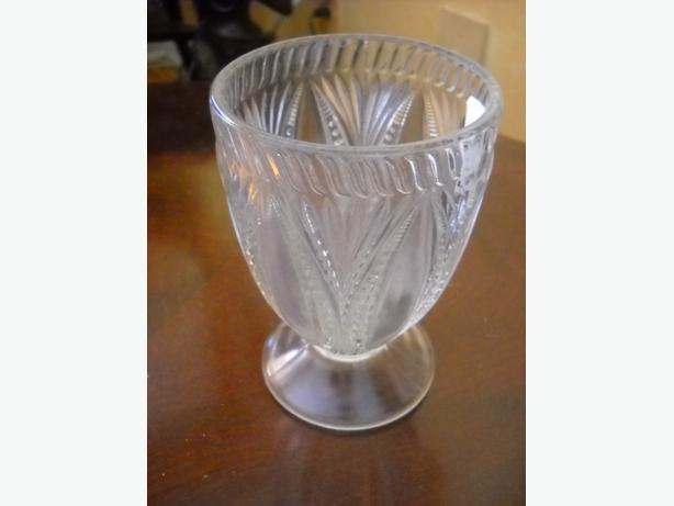 4U2C ANTIQUE 3 MOLD GOBLET GLASS