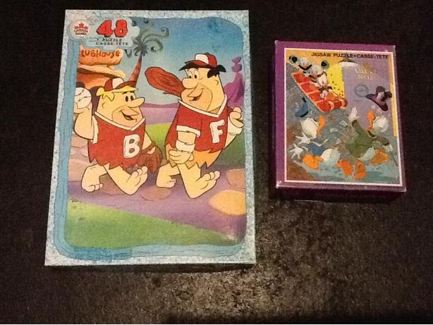 Flintstone and Donald Duck Puzzles