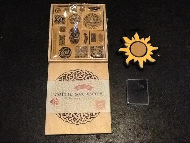 NEW - Celtic Symbols Rubber Stamps and Foam Sun Stamp