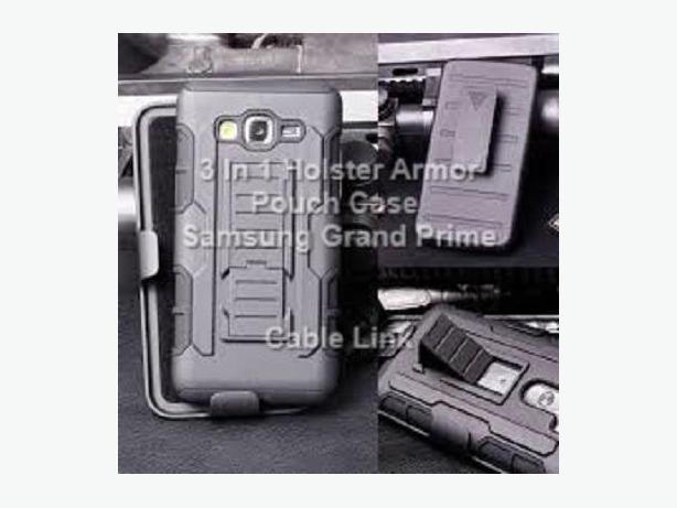 3 in 1 Armor Hybrid Holster Case for Samsung Grand Prime