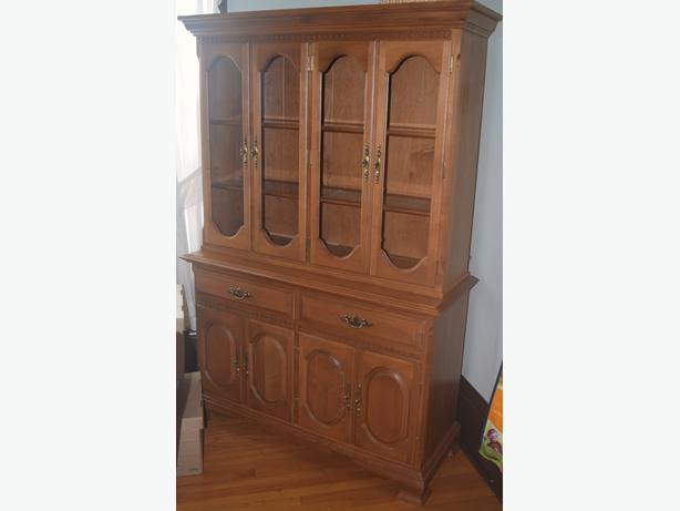 Maple Kitchen Hutch, Table and Chairs