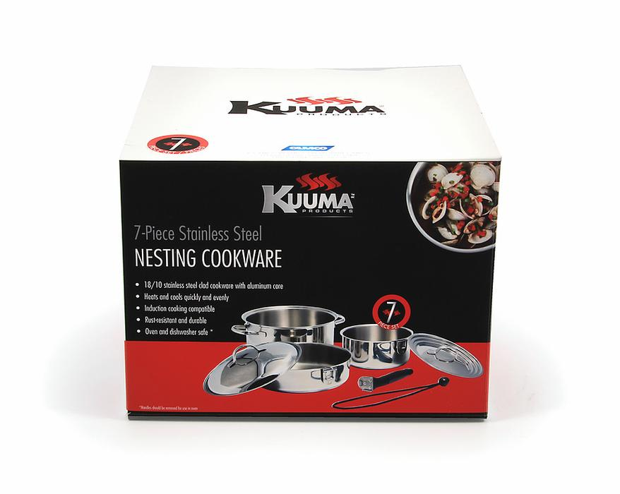 Kuuma Stainless Steel 7pc Nesting Cookware Set Comox