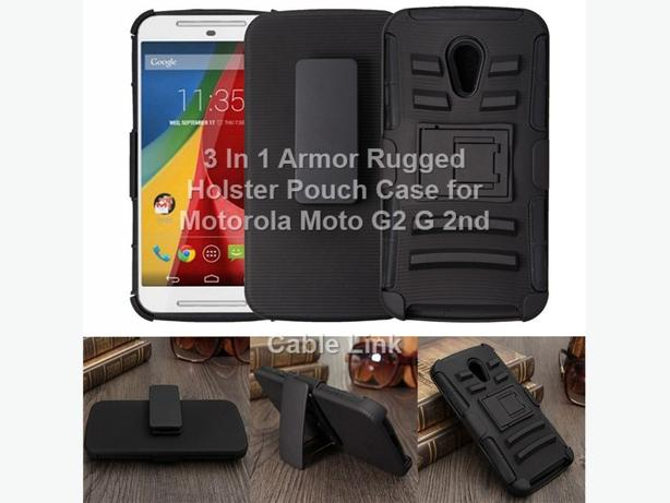 Rugged Armor Holster Pouch Case for Motorola Moto G2 G 2nd