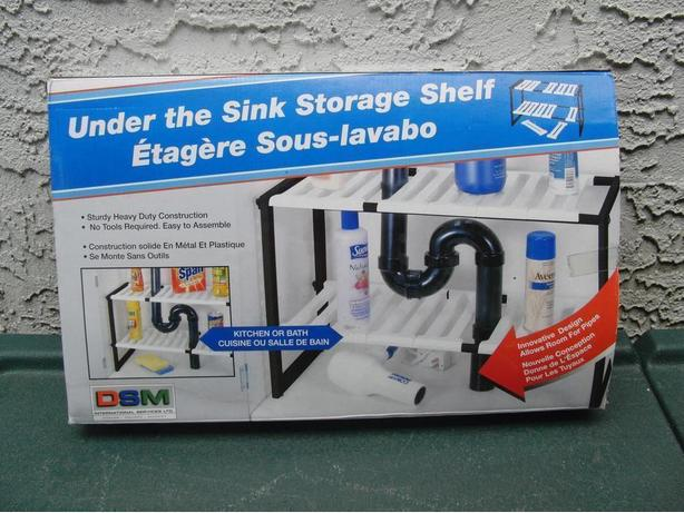 New Under Sink Adjustable Shelving
