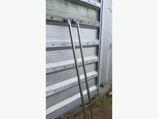 polished stainless box rails