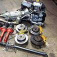 JDM SUBARU WRX STI VERSION 8 EJ20T MOTOR MT 6 SPEED TRANSMISSION brembo kit