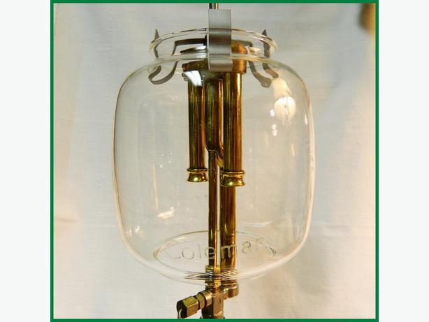 Original COLEMAN 355 Glass Globe for Lamp~Straight Line Logo~Lantern Shade