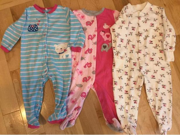 3 sleepers & 5 bodysuits 9 months