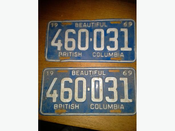 Vintage BC Licence plates