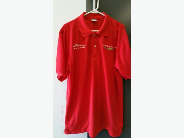 Chrysler Crossfire Men's Red golf shirt XXL