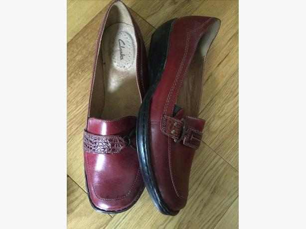 Red Clarks Shoes - ladies size 10