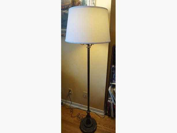 4u2c ANTIQUE BRASS BRONZE FLOOR LAMP