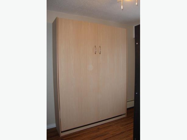 Murphy Bed Queen - Real Wood - New