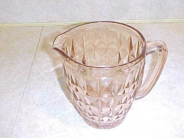 WINDSOR DIAMOND DEPRESSION GLASS PITCHER