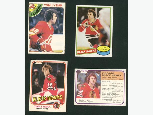 Tom Lysiak Cards Blackhawks Flames