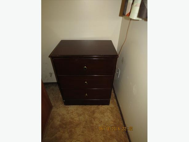 Burgundy Bed Table