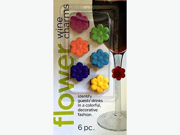 Wine Glass Stem Drink Markers Charms (Set of 6)