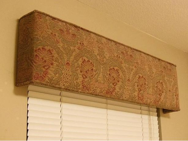 Upholstered Window Box Valance