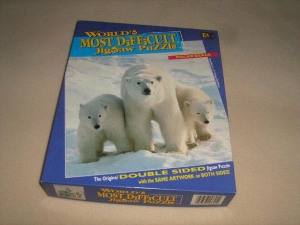 WORLD'S MOST DIFFICULT JIGSAW PUZZLE  -  POLAR BEARS