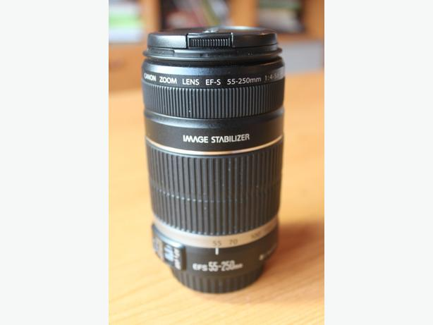 Canon 55-250mm telephoto lens (like new)