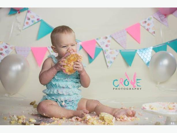 Birthday Cake Smash Session with Crowe Photography