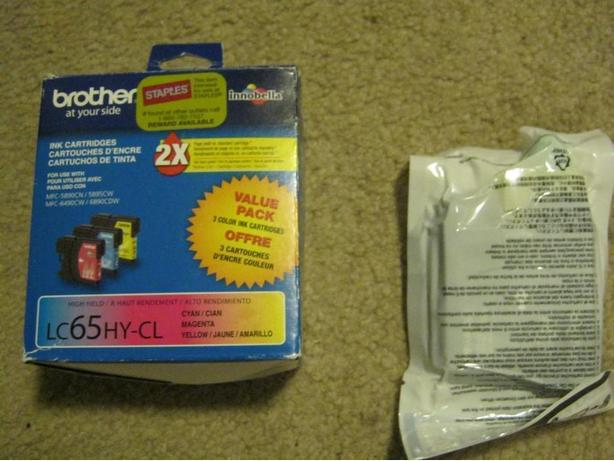 Brother LC65HY Ink Cartridges (Cyan/Magenta/Yellow and Black)