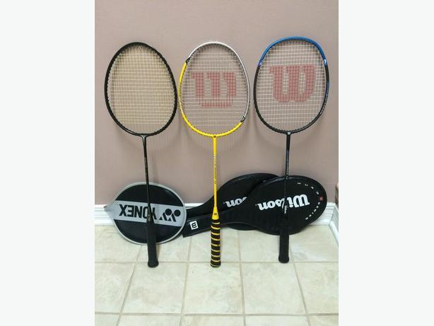 3 Hi-Quality Badminton Racquets