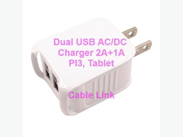High Performance 5.2V 2A+1A Dual USB Wall Charger Pi3 Tablet