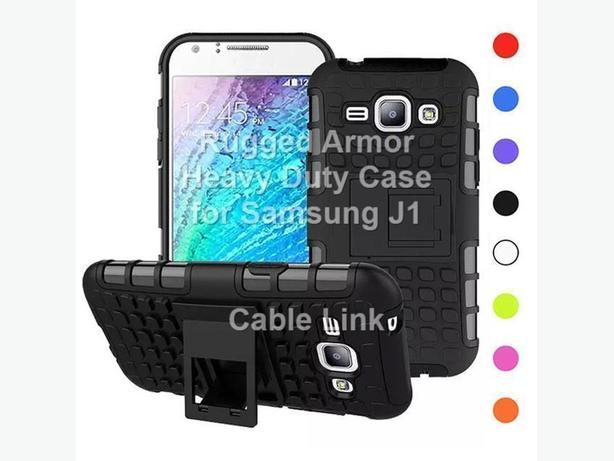 Rugged Armor Heavy Duty Hybrid Stand Case for Samsung J100